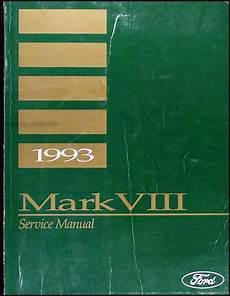 auto manual repair 1993 lincoln mark viii electronic valve timing 1993 lincoln mark viii repair shop manual original
