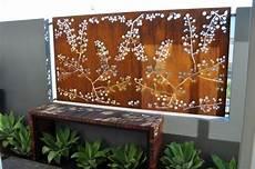 brise vue mural brise vue jardin et d 233 co en acier corten 30 id 233 es