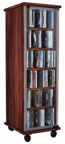cd regal mit glastür vcm cd dvd regal tower vitrine schrank mit rollen drehbar