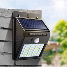 35 30 led solar light outdoor solar l pir motion sensor solar panel security wall light