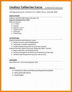 15 curriculum vitae high school student receipts template