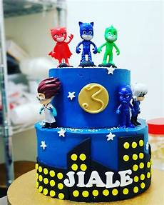 customised birthday cake pj mask 2 tier 6inch 9inch