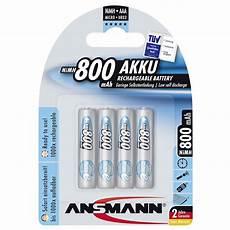 ansmann maxe aufladbare aaa batterien 800mah
