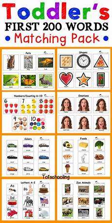 toddler s first 200 words matching toddler speech puzzles for toddlers toddler activities