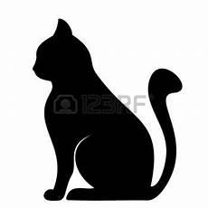 Malvorlage Katze Silhouette Stock Photo Schwarze Silhouette Katze Zeichnen Und