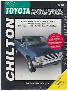 free car repair manuals 1989 toyota truck xtracab sr5 parking system 1997 2000 toyota pick ups land cruiser 4runner tacoma chilton repair manual 417x ebay