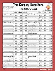 rate card template in word rate sheet template all free word templates