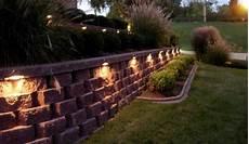 retaining wall light ideas outdoor home structure wall patio lighting san antonio regarding retaining wall lights