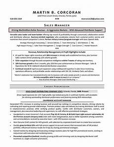 sales manager resume sles sle resumes