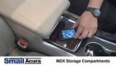 2014 acura mdx center console features and storage youtube