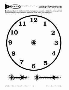 time worksheets make your own 3099 your own clock worksheet for 1st 2nd grade lesson planet