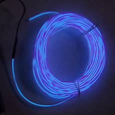 Fil Lumineux 3 Mm 10 M 232 Tres Bleu Contr 244 Leur
