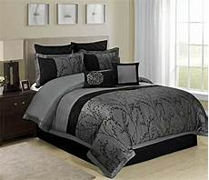 8 piece weistera jacquard tree branches pattern comforter sets king dark grey ebay