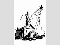 Coloriage église avec étoile de Noël   Dessins gratuits à