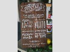 Rustic Montana Ranch Wedding   Cocktail menu, Bar and Drinks