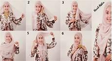 Cara Memakai Model Jilbab Pasmina Bahan Kaos Brokat Bahan