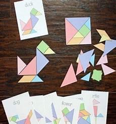 Tangram Kinder Malvorlagen Tutorial Diy Paper Puzzle Free Printable Tangram Challenge