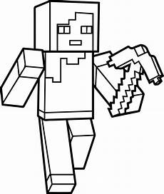 Malvorlagen Minecraft Steve Minecraft Steve Coloring Pages At Getcolorings Free