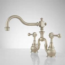 antique kitchen faucets signature hardware vintage bridge kitchen faucet with lever handles ebay