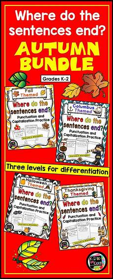 capitalization and punctuation editing worksheets 20756 writing capitalization and punctuation practice fall bundle punctuation classroom activities