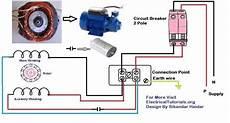 single phase motor wiring and controlling using circuit breaker electrical tutorials urdu hindi