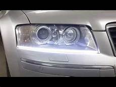 xenon carbon garage audi a8 upgrade daylight morimoto h1