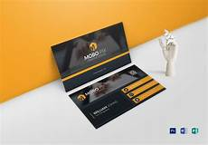 sided business card design template in word psd