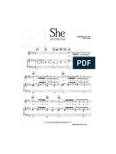 she piano sheet music charles aznavour sheetmusic free com pdf entertainment general music