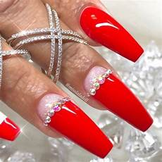 cute red nails designs for trendy women fashionist now