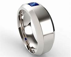 unique mens wedding band comfort fit luxury princess cut