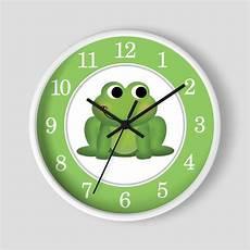 adorable green frog apple green nursery 10 quot wall clock