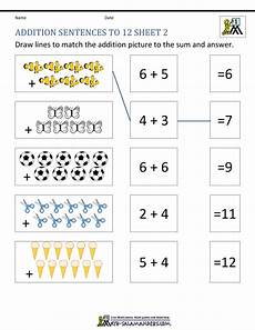 grade math addition worksheet with pictures grade addition worksheets