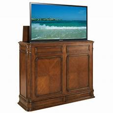 pointe xl brown tv lift cabinet by tvliftcabinet