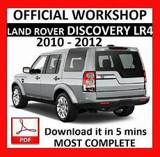 online car repair manuals free 1996 land rover range rover electronic toll collection gt gt official workshop manual service repair land rover discovery lr4 2010 2012 ebay