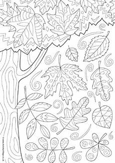 autumn doodle colouring page
