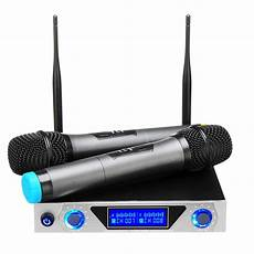 Professional Channel Cordless Handheld Wireless Microphone by Universal Lcd Dual Channel 2 Mic Professional Handheld Uhf