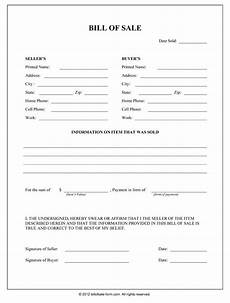 bill of sale form general bill of sale form