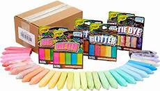 Amazon Com Chalk City Sidewalk Amazon Chalk City 136 Pack 17 Colors Jumbo Washable