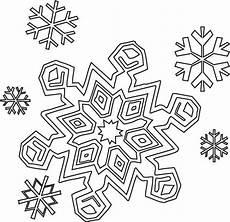 winter season snowflakes coloring page color
