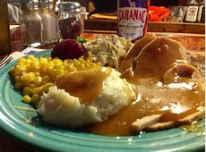 Sunday night special   turkey dinner with all the fixings
