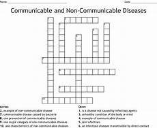 communicable and non communicable diseases crossword wordmint