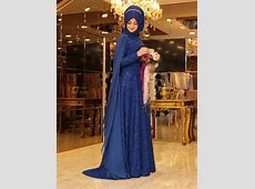 2117 Hare Evening Dresses Muslim Hijab Prom Gowns Lace