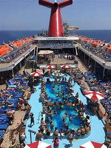 pool spa fitness carnival paradise cruise ship