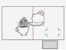 pop up card templates pdf teapot and cup pop up card