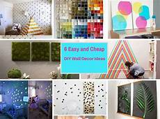 Wall Cheap Diy Home Decor Ideas Diy by 6 Extremely Easy And Cheap Diy Wall Decor Ideas Part 4