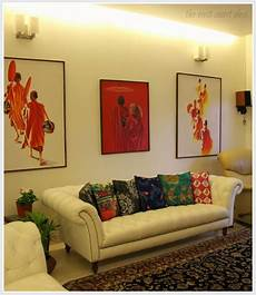 Living Room Home Decor Ideas India by India Circus Cushion Covers Patterned Rugs And Paintings