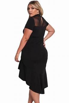 Robe Femme Ronde Chic Noir Courte Devant Longue Derriere