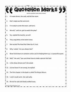 grammar worksheets using quotation marks 24941 quotation worksheet quotation marks quotations use of quotation marks
