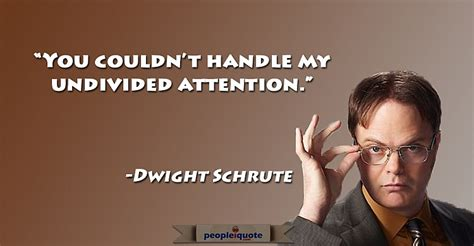 my thoughts on Dwight Schrute