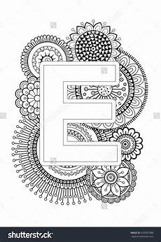 alphabet mandalas coloring pages 17864 doodle floral letters coloring book for mandala and sunflower abc isolated vector